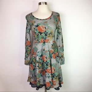 Saturday Sunday Floral Sweatshirt Dress